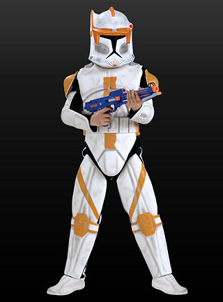 clone trooper cody kost m kinder star wars klonkrieger ebay. Black Bedroom Furniture Sets. Home Design Ideas