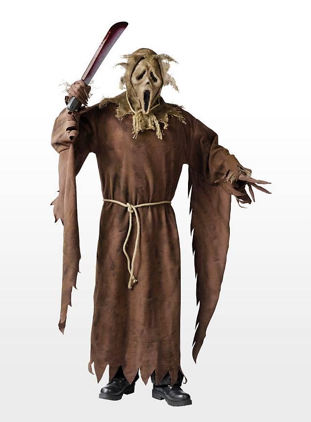 vogelscheuche scream halloween kost m mit maske horrorkost m ebay. Black Bedroom Furniture Sets. Home Design Ideas
