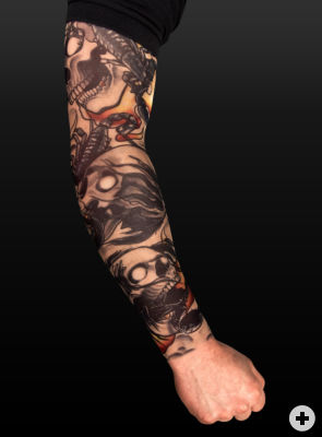 Tattoos Skin on Hellrider Tattoo Skin   Rmel Bei Maskworld Com