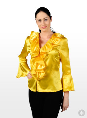 Yellow Satin Blouse 43