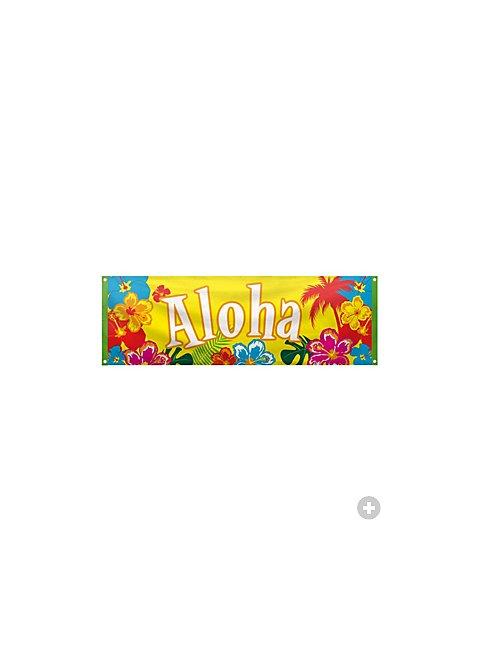 beach party aloha banner. Black Bedroom Furniture Sets. Home Design Ideas